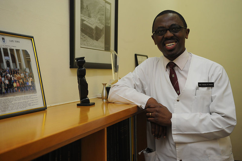 Honour among medics: Prof Bongani Mayosi of the Department of Medicine's Cardiac Clinic at GSH, is UCT's newest P-rated researcher.