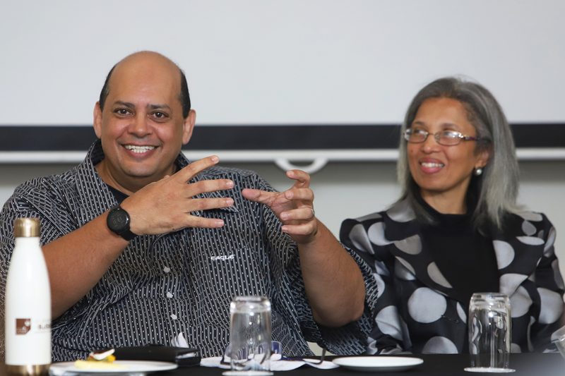 Prof Kurt April, Allan Gray Professor in Leadership, Diversity and Inclusion at the GSB (left) and Glenda Kayster, Employment Equity Specialist (Transformation) for UCT, were among the panellists addressing ways of creating a truly welcoming environment at UCT.