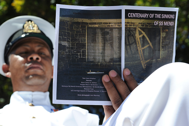 UCT  hosted a military parade and memorial service, held by the Gunners Association Western Cape, to commemorate the sinking of the SS Mendi.