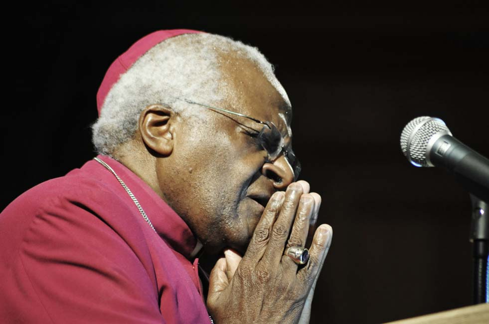 Anglican Archbishop Emeritus Desmond Tutu (1993), Doctor of Laws. Photo UCT Archives.
