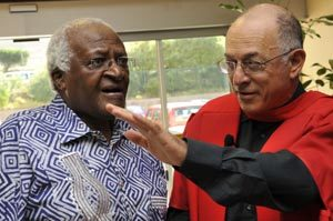 Forward thinking: Archbishop Emeritus Desmond Tutu was one of the guests at Professor Solomon Benatar's valedictory lecture on global health
