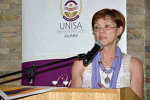 Accolade: UNISA's Department of Information Science's Alumnus of the Year 2011, Gwenda Thomas, the executive director of UCT Libraries.