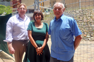 Key players: (From left) Stuart Hendry, Jacqui Kew and Dr Mike Herrington are leading a three-year pan-African study on unemployed youth and entrepreneurship.