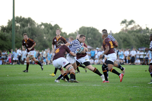 Fruitless toil: Despite battling bravely, Ikeys could not snap their winless streak against arch-rivals FNB Maties in the fifth round of the FNB Varsity Cup.
