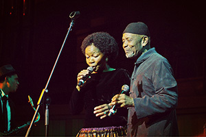 Golden oldies: Letta Mbulu and Caiphus Semenya stole the show as they performed some of their best-loved hits for an appreciative audience at the UCT Alumni Concert.