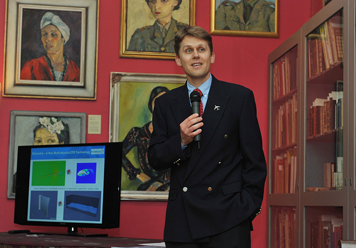 Prof Arnaud Malan at the recent Café Scientifique talk at the Irma Stern Museum.