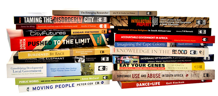 Some UCT Press titles over the last 21 years.
