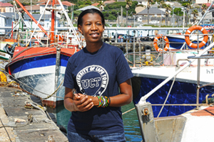 Seed of change: Dr Hilkka Ndjaula's enterprise to make dried fish available to rural Namibians was awarded with the UN's 2013 SEED Award.