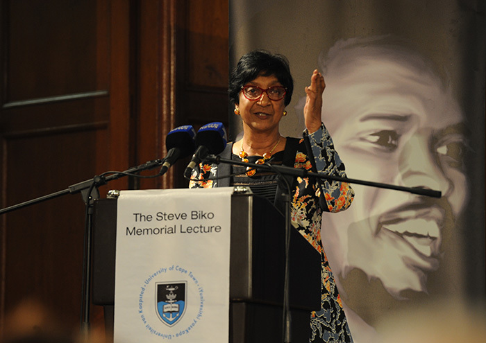 Former UN High Commissioner for Human Rights, Navi Pillay expressed her concern with the South African government's waning interest in human rights issues in the international arena.