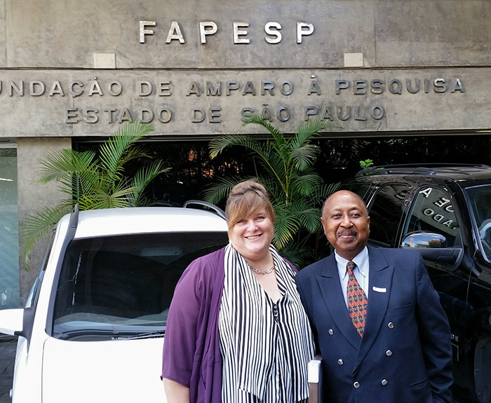 South-South partners: IAPO mobility, partnerships and programmes manager Lara Dunwell and Deputy Vice-Chancellor Professor Thandabantu Nhlapo visited Brazil recently to establish formal ties with a range of research partners.