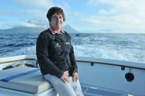 Crest of a wave: Assoc Prof Coleen Moloney (biological sciences), the first woman to win the Gilchrist Memorial Medal in 27 years. The South African Network for Coastal and Oceanic Research awards it triennially.