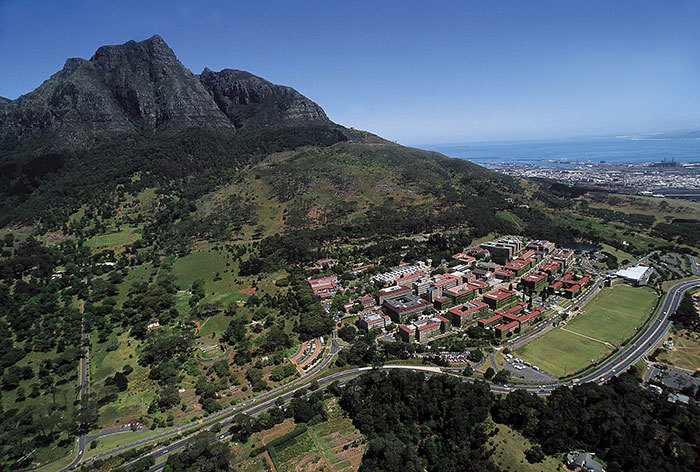 Aerial view of the University of Cape Town. (Photo: UCT).