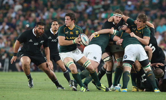 Which players adapted better to jet lag in this match between Springboks and the All Blacks?
