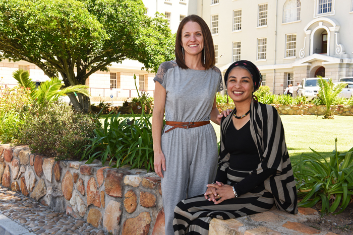 2015 Social Responsiveness Award winners Assoc Prof Roshan Galvaan and Liesl Peters from the Division of Occupational Therapy.
