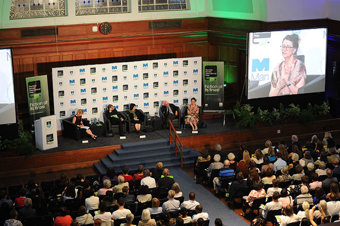 The judging panel for the 2015 Man Booker International Prize in discussion at UCT: Prof Elleke Boehmer, Nadeem Aslam, Prof Wen-chin Ouyang, Edwin Frank and Marina Warner.