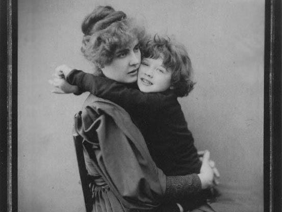 Constance and her son, Cyril Wilde.