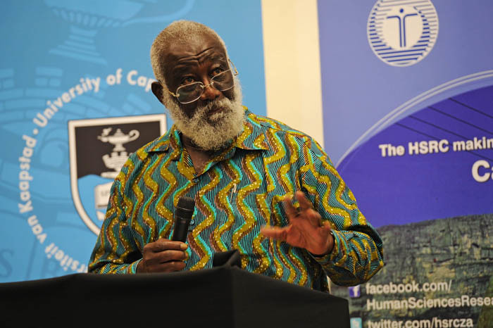 Prof Kwesi Kwah Prah had the audience entranced as he shared insights into Prof Archie Mafeje's life, work and legacy.