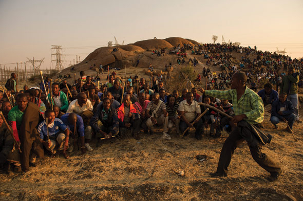 Thirty-four of the miners gathered on this koppie were shot and killed by police on 16 August 2012, and the UCT Marikana Forum is commemorating the massacre with a series of events this week.