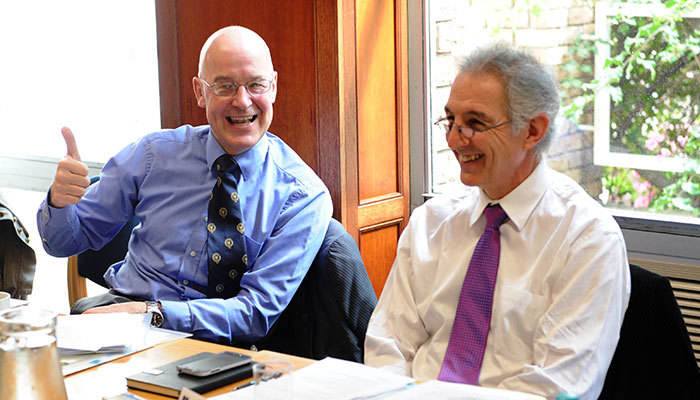 Oxford Vice-Chancellor Prof Andrew Hamilton and UCT Vice-Chancellor Dr Max Price.
