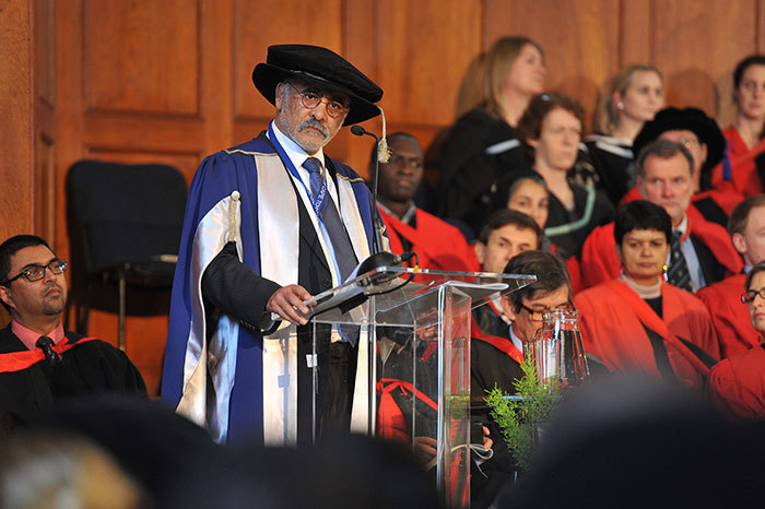 Professor Crain Soudien, Deputy Vice-Chancellor, shared the crux of his academic journey with graduands on 11 June.