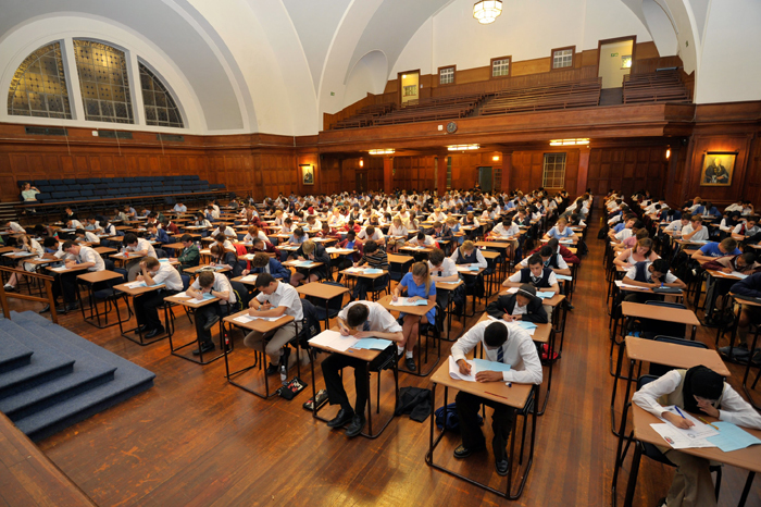 Every year thousands of Cape Town's top high school learners participate in the UCT Mathematics Competition, including these learners in Jameson Hall.