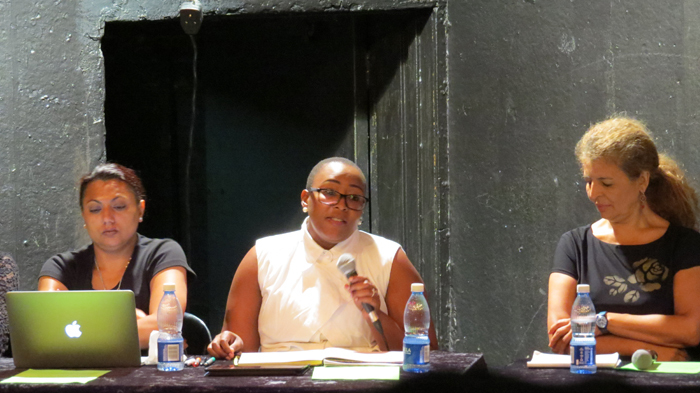 From left Assoc Profs Waheeda Amien and Ntombizozuko Dyani-Mhango, and Prof Penny Andrews, who exchanged views at a panel discussion hosted by UCT's law faculty.
