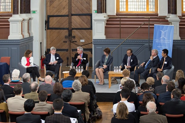 Vice-chancellors and presidents spoke about the moral purpose of universities and the many pressures facing higher education during a wide-ranging discussion at the Sheldonian Theatre in Oxford.