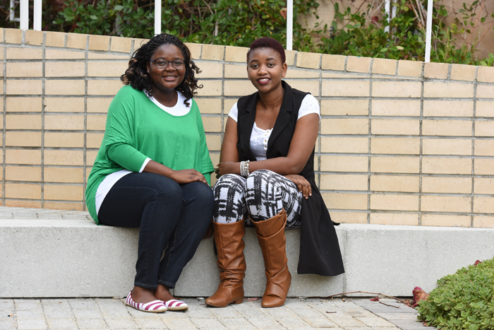 MasterCard Foundation Scholars Fadzai Muramba (left) and Christina Nyandoro (right) believe the opportunity afforded them will open many doors for their future in terms of career and personal development. Both scholars should graduate in December.