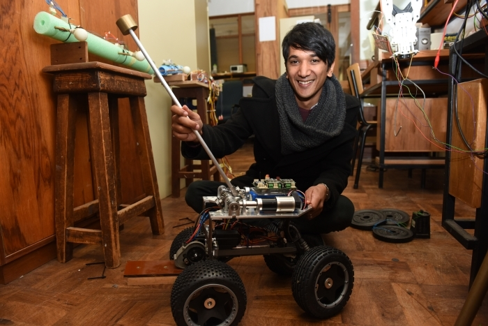 Tail up: Dr Amir Patel, a robotics designer in electrical engineering, is one of six UCT recipients of a Claude Leon Merit Award.