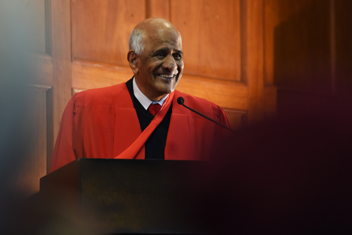Former Constitutional Court judge Zak Yacoob addressed the first of the humanities graduation ceremonies in June.