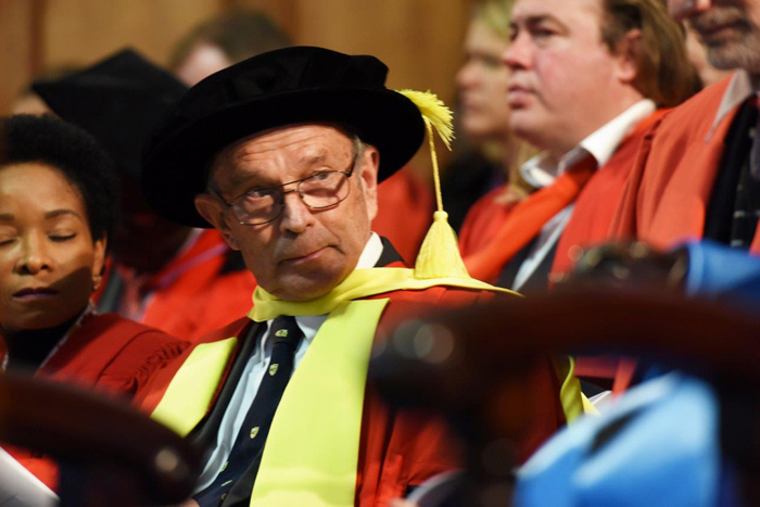 Emeritus Professor Francis Wilson was conferred the degree of doctor of letters honoris causa.