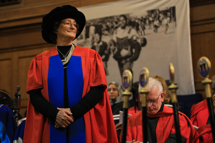 Last night (14 June) alumnus and archaeologist Dr Janette Deacon received an honorary Doctor of Literature at the third of four Humanities ceremonies.