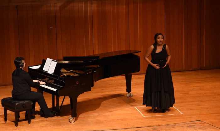Soprano singer Noluvuyiso Mpofu during her audition in the quarter-finals of the Belvedere Singing Competition.