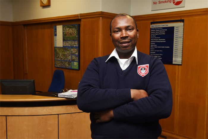 Makhi Vincent Rala has worked as a CPS officer at UCT since 2002. He is known as the personable and generous personality that helps everyone entering the Bremner building.
