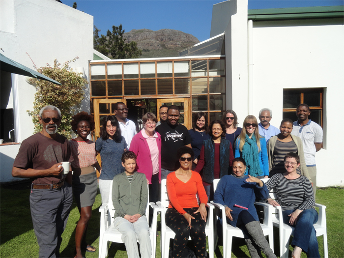 >From left to right (back): Ed February, Tolu Oni, Lee-Ann Tong, Bob Osano, Lyn Holness, Patrick Adams, Nceba Lolwane, Virna Leaner, Corrinne Shaw, Meg Samuelson, Anita Campbell, Anwar Jardine, Mmamapudi Kubjane and Frank Matose. From left to right (front): Kate le Roux, Sylvia Bruinders, Waheeda Amien and Tracy Craig.