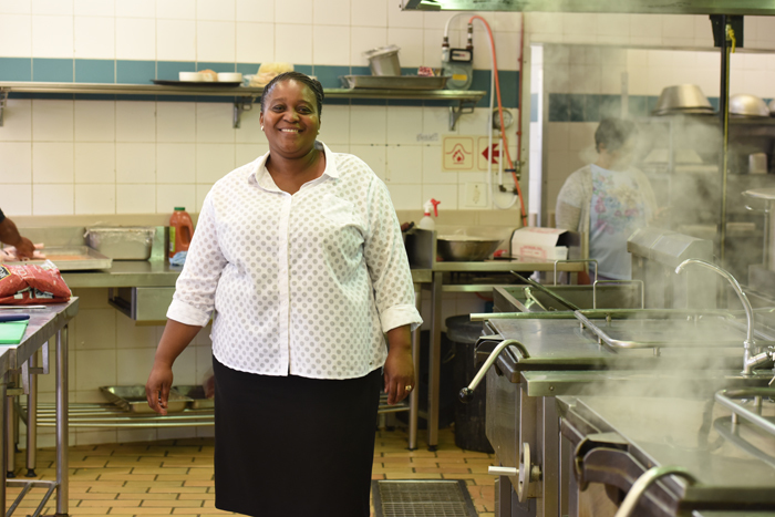 Sheila Diwu, assistant catering manager at Leo Marquard Hall residence, believes that love and care are the staples of any student's diet.