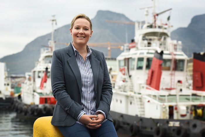 Dr Sarah Fawcett at the harbour. <b>Photo</b> Michael Hammond.