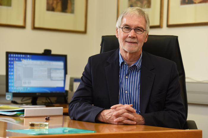 DVC Prof Danie Visser retires from UCT after 32 years of service. Beginning as a lecturer in the 80s, Visser stepped up as Dean of Law and later DVC for Research and Internationalisation. <b>Photo</b> Michael Hammond.