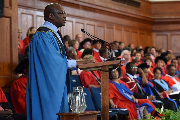 ​​​​​​​Chair of Council Sipho Pityana was guest speaker at this morning's graduation ceremony, one of two that will be held in a truncated graduation season.