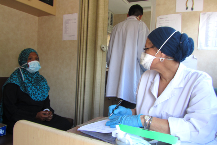 Incurable TB is bad in its own right, but the authors of this study point out that more than half of the patients diagnosed with incurable TB were discharged, which poses a massive risk of spreading the deadly disease. In this picture, a nurse interviews a patient for her medical history.