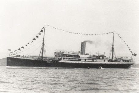 "The 12-year-old SS Mendi, a veteran of Liverpool–West Africa trade, was refitted as a troopship in Lagos in late 1916. <b>Photo</b> <a href=""https://commons.wikimedia.org/wiki/File:SS_Mendi.jpg"" style=""font-weight: normal;"" target=""_blank"">Wikimedia Commons</a>."