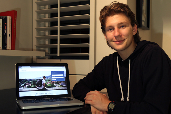 ​​​​​​​Third-year actuarial science student Tom Masojada, co-founder of the Tutpack tutoring platform.