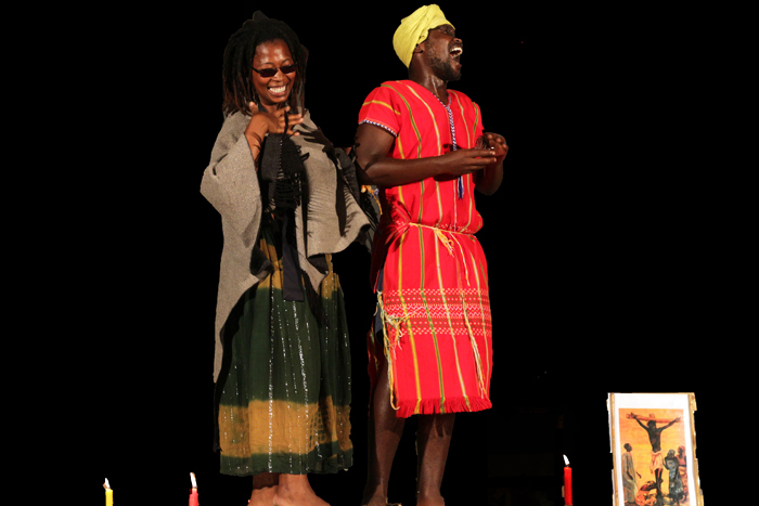 Nomakrestu Xakathugaga and Thando Mzembe perform in The Holy Plan B, which will be staged during the 2017 Zabalaza Theatre Festival at the Baxter.