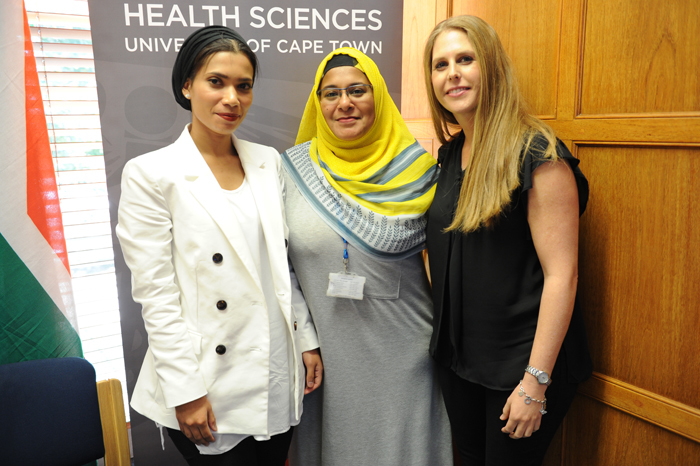 Maryam Fish' Gasnat Shaboodien and Sarah Kraus' the all-female team of researchers who made the discovery of the CDH2 gene.