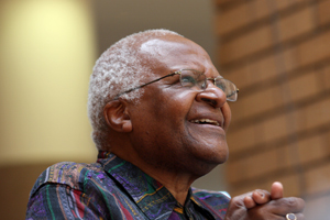 Activist and patron: Archbishop Emeritus Desmond Tutu will receive a special leadership award from UCT this week.