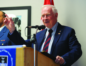 Heads and hearts: David Johnston, Governor-General of Canada, at a recent UCT panel discussion on international education and science collaboration.
