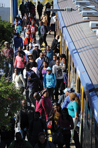 <b>On the go</b>: A large portion of Cape Town's population relies solely on public transport.
