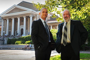 <b>An African first</b>: Assoc Prof David Taylor (left), founding director of the African Institute of Financial Markets and Risk Management, and Prof Don Ross, Dean of the Faculty of Commerce.
