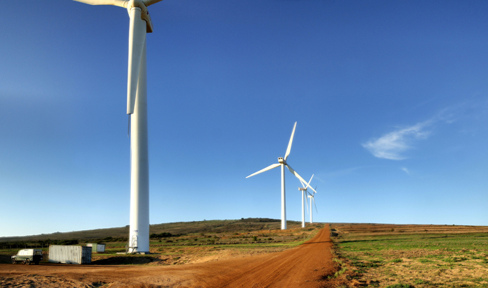 Wind turbines in Darling, South Africa.