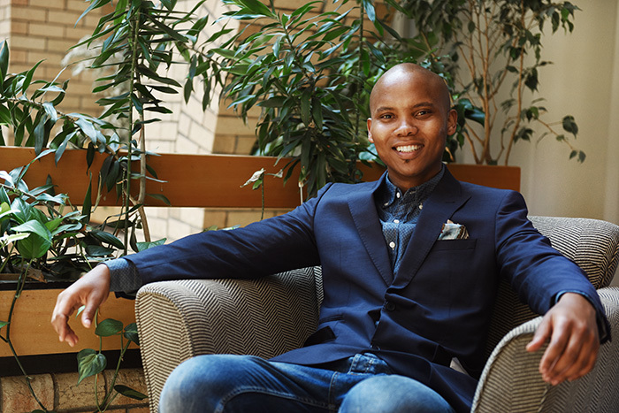 """The one way to succeed is to create synergies with diverse groups of students . . . It's about your own goals, your own dreams, about being grounded."" – Zolani Buba on succeeding in UCT's law school."